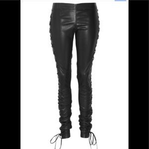 "Joseph Lambskin ""Harley"" tie-up leather pant !"